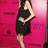 Sui He wore a black mini to the Victoria's Secret afterparty.