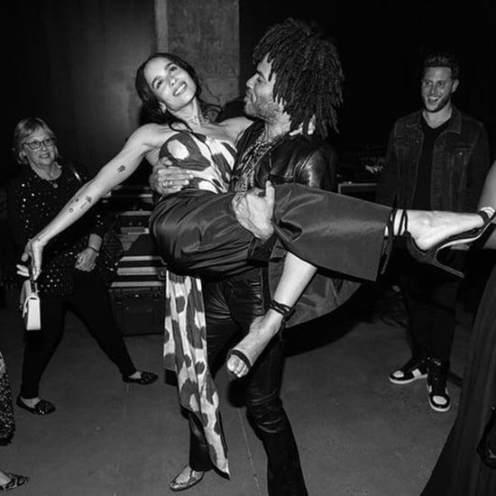 Zoë Kravitz and Lenny Kravitz at Exhibition Opening 2018
