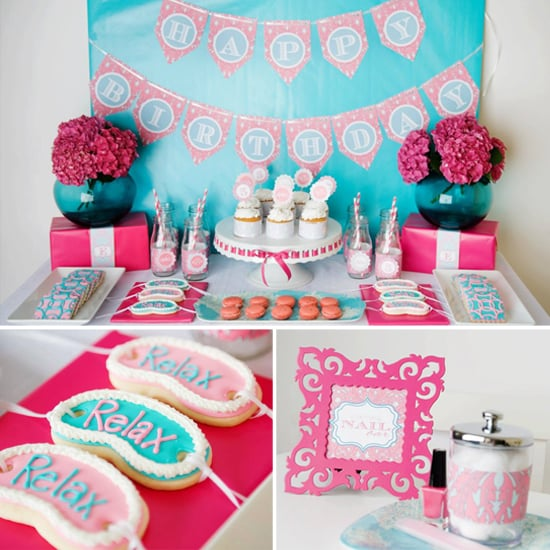 A Sweet Spa Party For Emma's Fifth Birthday