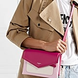 Givenchy Duetto Colorblock Leather Shoulder Bag