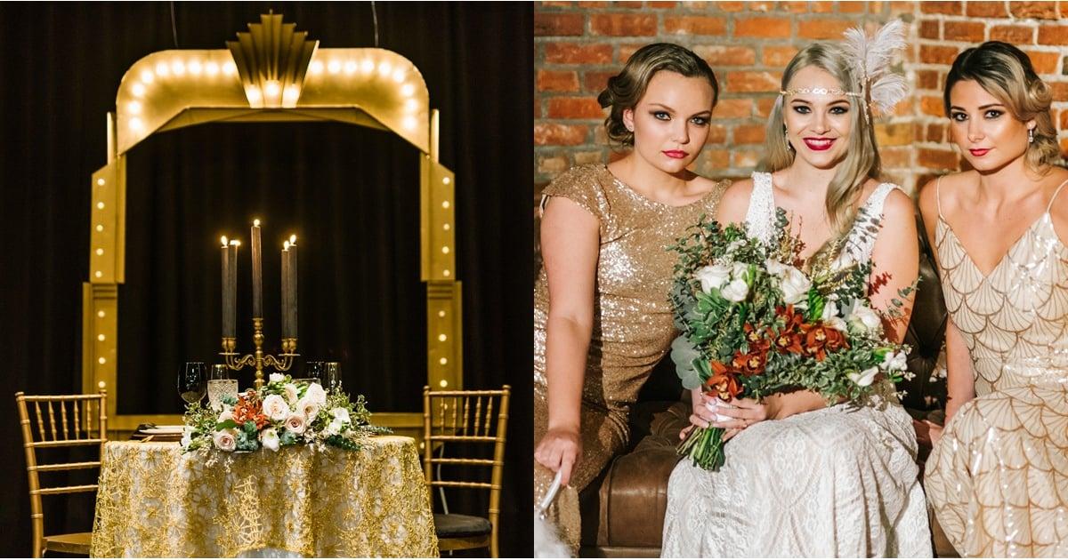 great gatsby themed wedding popsugar love sex