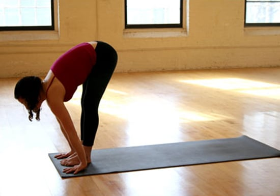 Inhale to look up, and lengthen your spine.