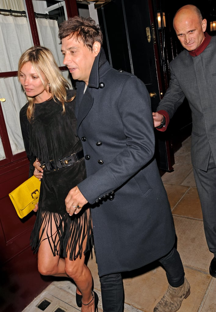 Jamie Hince and Kate Moss wrapped up their night at Loulou's.