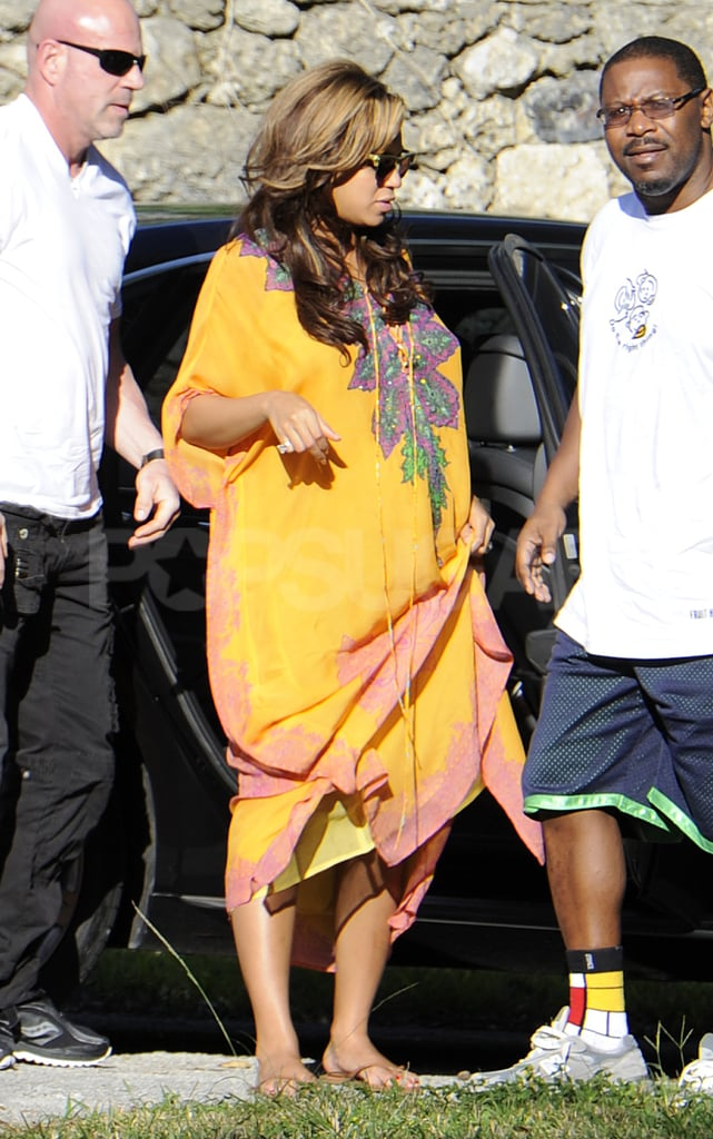 Beyoncé Knowles brought her baby bump to Miami.