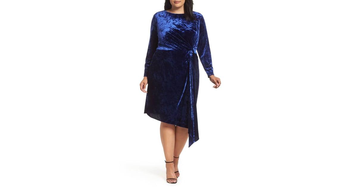 a5d2ed814b0 Maggy London Velvet Asymmetrical Sheath Dress