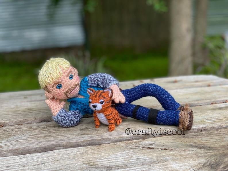 Amigurumi Tiger, Crochet Hobbes, Handmade Stuffed Tiger, Huggable ... | 596x794