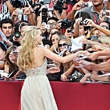 Diane Kruger signed autographs at the Ides of March premiere.
