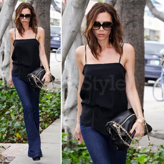 Victoria Beckham Black Gold Chain Bag