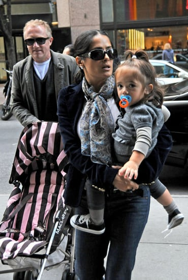 Salma and family in Midtown Manhattan