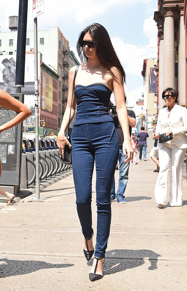 Her Idea of Sexy Is a Tight Denim Jumpsuit