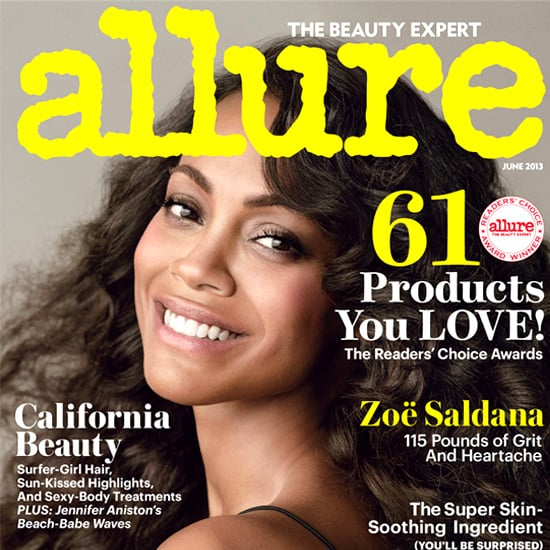 Zoe Saldana in Allure Magazine June 2013 | Pictures
