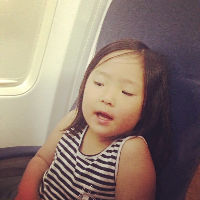 """Naleigh Kelley entertained fellow passengers on her Delta flight with a rendition of """"Let It Go."""" Source: Instagram user joshbkelley"""