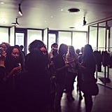 The fashion crowd gathered in front of J Brand Jean's founder, Jeff, for a delicious brunch.