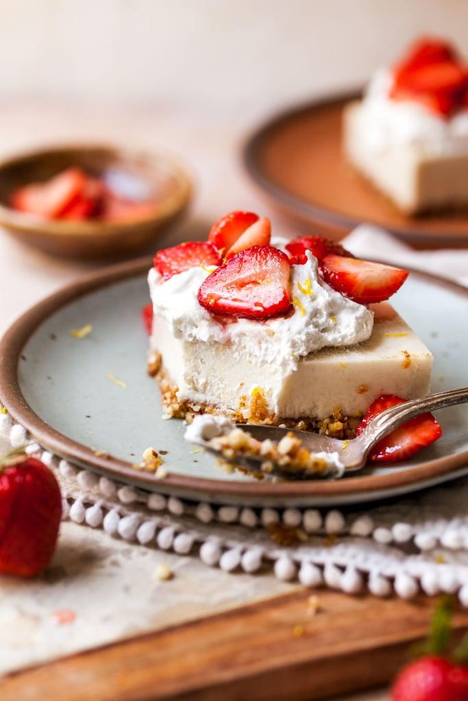 Vegan Strawberry Cheesecake