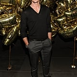 Alexander Skarsgard during Fashion Week.