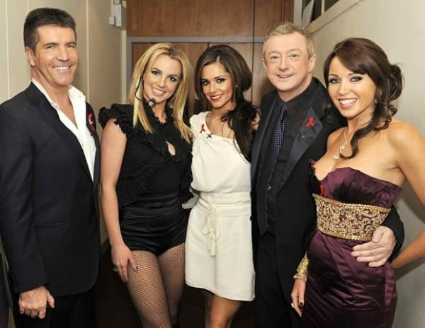 Britney Spears posted a picture of her X Factor colleagues.