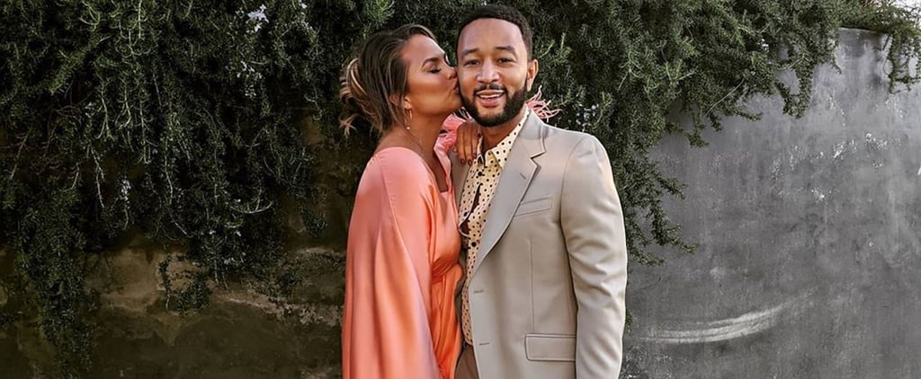 Chrissy Teigen's Silk Dress on Father's Day With John Legend