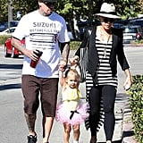 Pink and Carey Hart had a Malibu, CA, breakfast with their daughter, Willow.