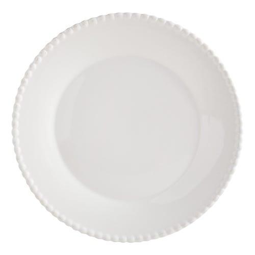 Keely Stoneware White Dinner Plate
