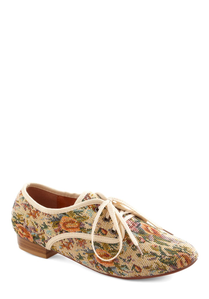 ModCloth's Just My Textile Flats ($38) are a great way to get in on the tapestry trend in a small way.