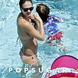 Jessica Alba Puts Her Bikini Body on Display During Pool Time in Italy