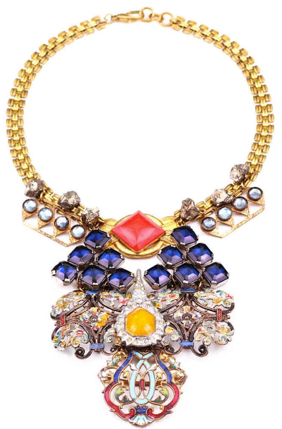 "True story: this Lulu Frost ""100 Years"" necklace  ($1,925) was made from jewels from every decade from 1860-1960."