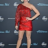 The singer was red hot during a taping of American Idol in April 2019.
