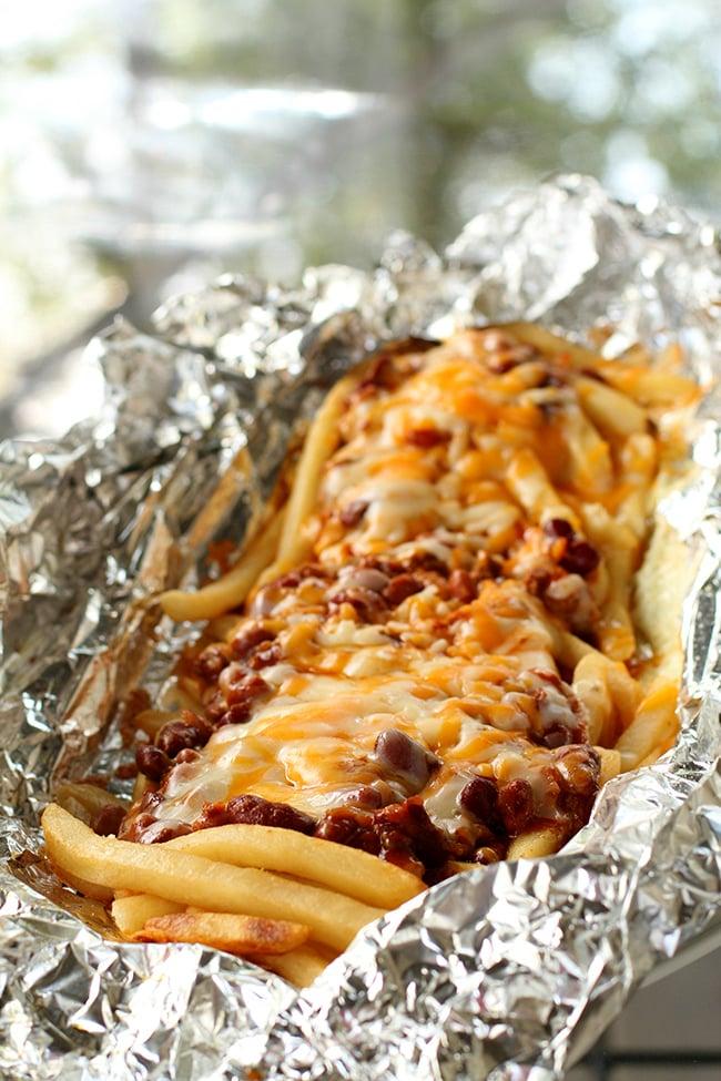 Campfire Chili Cheese Fries