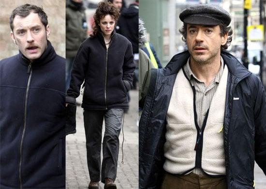 11/12/2008 Robert Downey Jr, Rachel McAdams, Jude Law