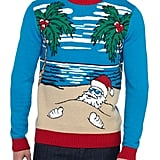 Santa Beach Sweater With LED Lights