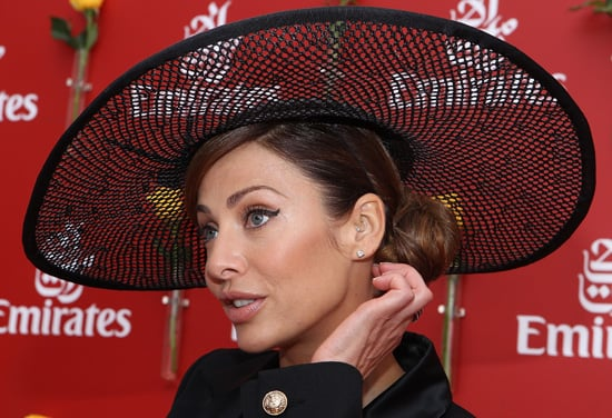 Photos of Natalie Imbruglia at the 2010 Melbourne Cup Wearing a Winged Eye and Witch-Esque Hat!