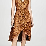 BB Dakota Leopard Print Wrap Dress
