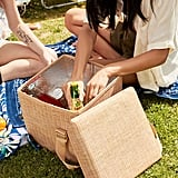 Basket Print Insulated Cooler