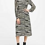 Petite Mock-Neck Midi Dress