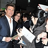 Tom Cruise signed autographs.