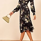 Reformation Kellan Floral Long-Sleeve Dress