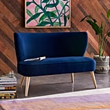 Drew Barrymore Flower Home  Velvet Loveseat