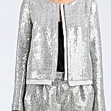 High-wattage shine meets a cool minimalist shape on this Diane Von Furstenberg Tamali Crystal Sequin Jacket ($498).