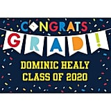 Custom Navy Class of Awesome Graduation Yard Sign