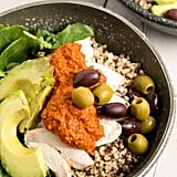 Chicken Quinoa Bowls With Romesco Sauce