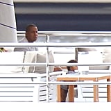 Jay-Z watched Blue play on a yacht.