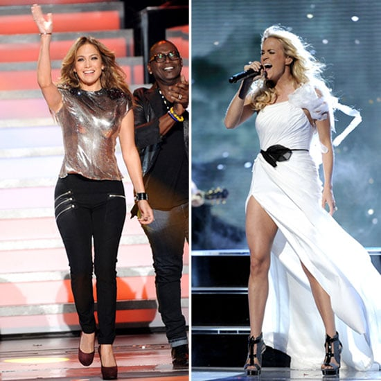 Jennifer Lopez and Carrie Underwood Get Sexy For the AI Stage