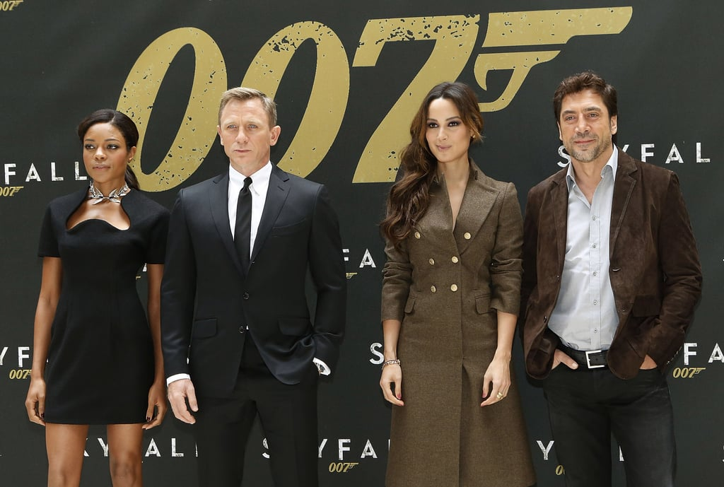 The cast of Skyfall posed in NYC.