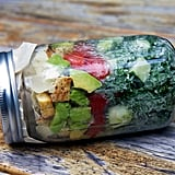 Kale Caesar Mason Jar Salad With Chicken and Avocado