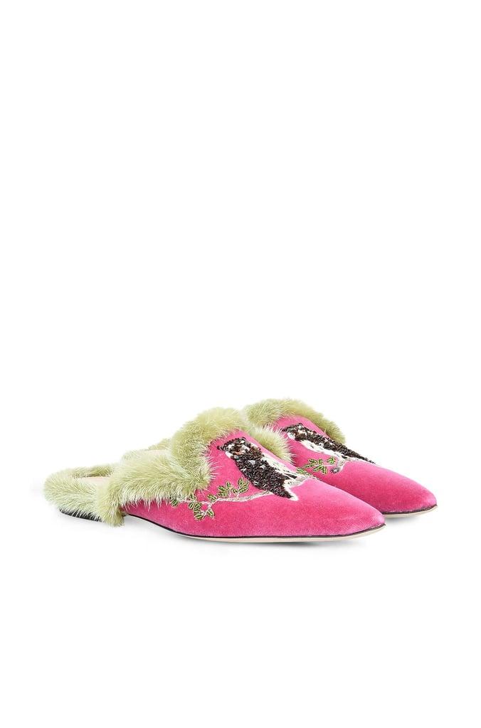 Alberta Ferretti Owl Pink Mia Mule