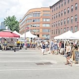 Support the local art community by shopping at SoWa Open Market.