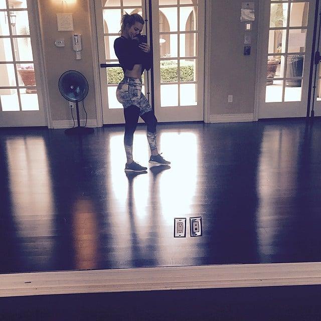 Khloé Kardashian got in a solo sweat session.
