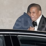 Jay-Z left the 40/40 Club.