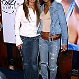 Beyoncé was on hand to support Kelly's solo debut album release, Simply Deep, in 2002.