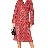 Our Pick: L'Academie The Serpent Leather Trench Coat in Snake